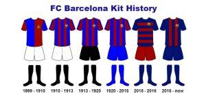 لباس اول های بارسلونا